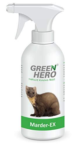 Green Hero Marder-Ex Spray gegen Marderverbiss, 500 ml, Fernhaltemittel gegen Marder fr das Auto, Abwehrspray mit Barrierewirkung