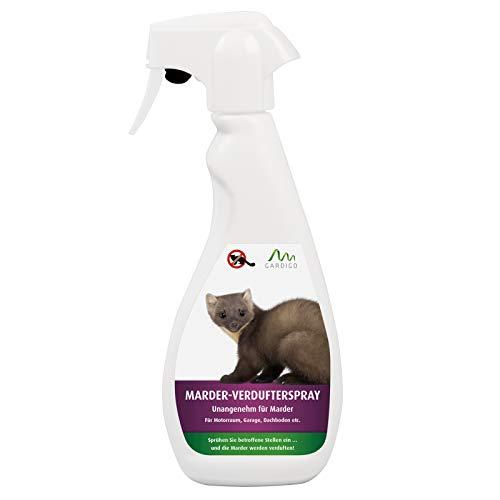 Gardigo Marderspray 500 ml I Marderschutz, Marderabwehr für KFZ, Dachboden und Garage I Margosa-Extrakt - Wirkstoff aus der Natur