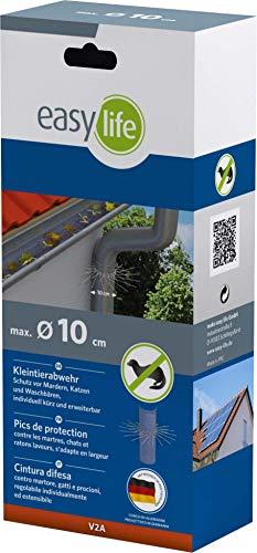 Easy Life Marder-Schutz für Fallrohre bis zu Ø 100mm (V2A) - individuell anpassbar durch Stecksystem der Gürtelglieder