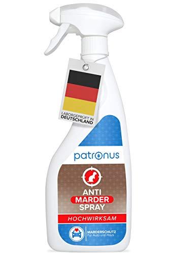 Patronus Marderspray für Auto & Dachboden 500ml - Sofort- & Langzeit-Schutz gegen Marder - hochwirksam & laborgeprüft in Deutschland