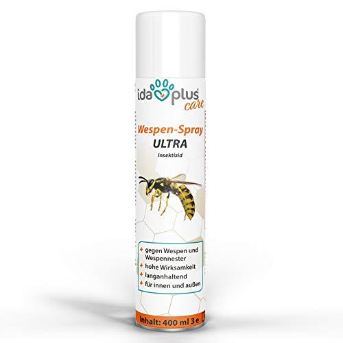 Ida Plus - Wespenspray Ultra gegen Wespen - Bekämpft alle Wespen & Wespennester in Haus, Garten, Dachböden – mit Sofortwirkung – Insektenvernichter zur Wespenbekämpfung 1ner S