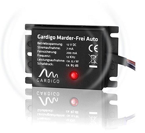 Gardigo Marder-Frei Auto / KFZ, Marderschreck, Anschluss an 12V Autobatterie, Marderschutz, Marderabwehr, Deutscher Hersteller