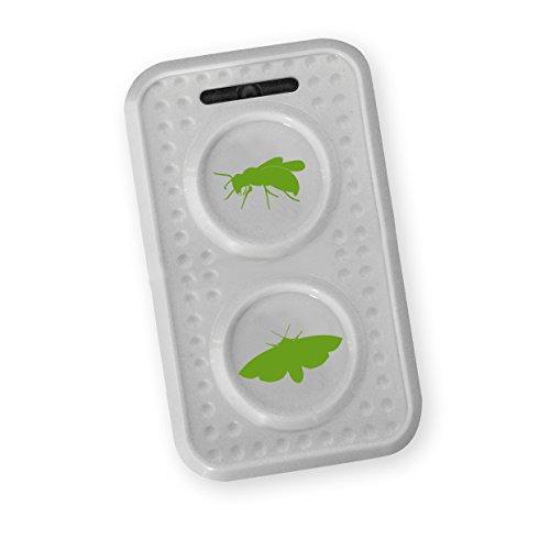 ISOTRONIC Wespenschutz Wespenabwehr Wespen Motten vertreiben mit Ultraschall und Wechselfrequenz bekämpfen, Mottenschutz | 1er Pac