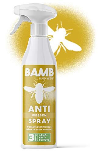 bamb Wespenspray Sofortwirkung & Präventiv – 500ml Anti Wespen Spray zum Wespen vertreiben - Wespenschaum Alternative – Spray gegen Wesp