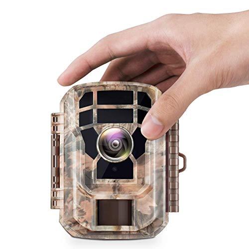 Campark Mini Wildkamera mit Bewegungsmelder Nachtsicht Wildlife Jagdkamera Wildtierkamera mit 120 12MP 1080P HD und 2.0' LCD IR LEDs