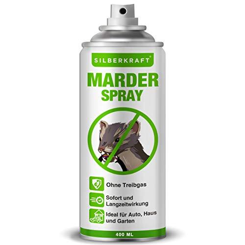 Silberkraft Marderspray 400 ml, Marderabwehr für Auto und Dachboden, Marderschutz für Abwehr und Vorbeugung von Mardern, Marder Spray als wirksame Alternative zu Marderschreck & Marder