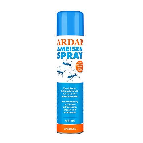 ARDAP Ameisenspray 400ml - Fraß- & Kontaktinsektizid mit Sofort- & Langzeitwirkung zur Bekämpfung von Ameisen, Ameisenstraßen & weiteren Schädling