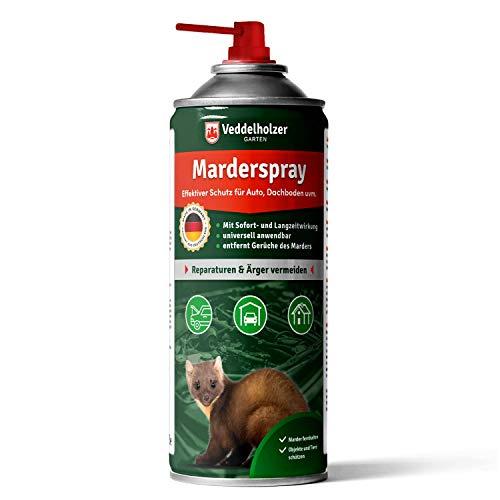 Veddelholzer Marderspray für Auto, Dachboden & Garage | 400 ml | Sofortiger & Langfristiger Schutz für Marder und Objekte durch effektive Marderabwehr | Marderschreck Made in Germany