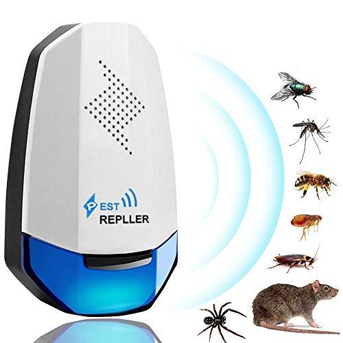 YQHbe Ultraschall Gegen Mäuse, Ultraschall Schädlingsbekämpfer, Pest Repeller Mäuse Vertreiben Ultraschall Stop Mouse Pro Insektenschutzmittel für Mäuse Und Ratten, Schaben, Insekten, Ameis