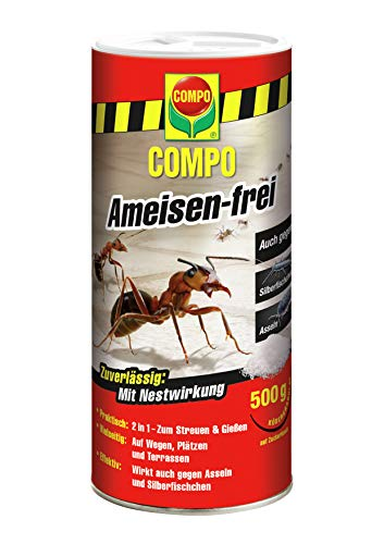 COMPO Ameisen-frei, Staubfreies Kdergranulat mit Nestwirkung, 500 g
