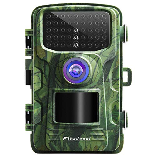 usogood Wildkamera 14MP 1080P mit Bewegungsmelder Nachtsicht No Glow IP66 Spray wasserdicht 2.4' LCD fr Outdoor-Natur, Garten, Haussicherheitsberwachung
