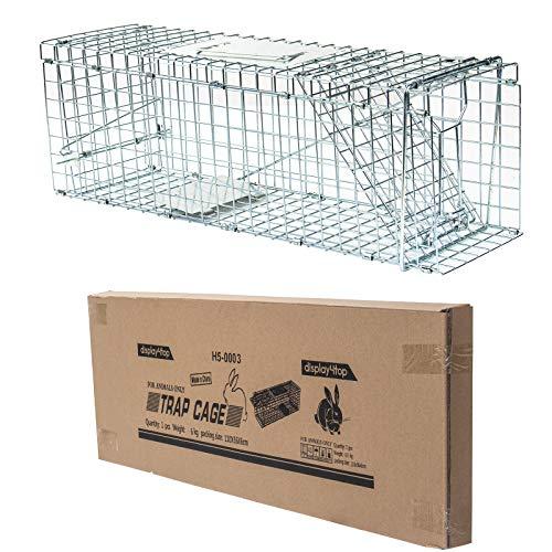 D4P Display4top Groe Marderfalle, einfach zu fangen | Wetterfeste, robuste Lebendfalle | Falle fr Marder, Katze | Lebend Kaninchenfalle Katzenfalle, Marderfallen (61 x 18 x 21cm)