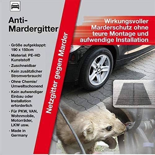 KDS/IWH 2 Anti Marder Gitter Mardergitter Matte 190x150cm Marderschutz Marderabwehr Mardermatte Neu