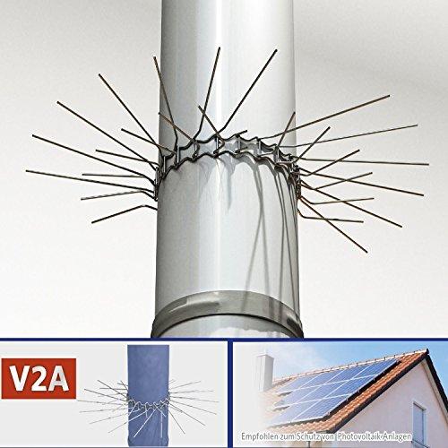 Marder-Schutz fr Fallrohre bis zu  100mm (V2A) - individuell anpassbar durch Stecksystem der Grtelglieder