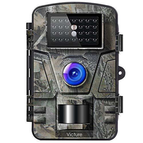 Victure Wildkamera Fotofalle mit Bewegungsmelder Nachtsicht 16MP 1080P Full HD Wildtierkamera mit Infrarot No Glow LEDs und IP66 Wasserdicht Jagdkamera fr Tierbeobachtung Haussicherheitsberwachung