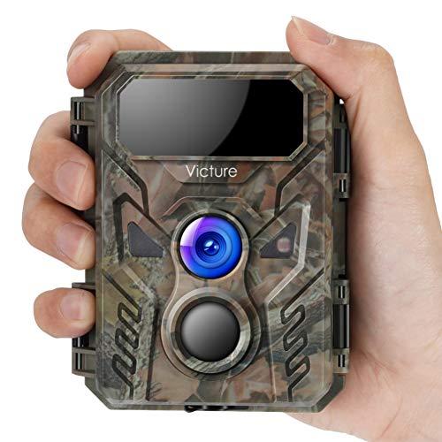 Victure Mini Wildkamera 16MP 1080P Fotofalle mit Bewegungsmelder Nachtsichtgert IP66 wasserdichtem und unsichtbarer Blitzerkennungsfunktion fr die berwachung von Wildtieren und Sicherheit zu Haus
