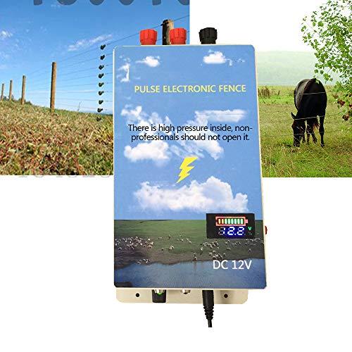 wansosuper Elektrozaun 220V,Elektrischer Zaun Marder,Elektrozaun Elektrozaun Elektrozaun Landmaschinen,Kann WildschweinschDen Beim HNdler Wirksam Verhindern,Blu