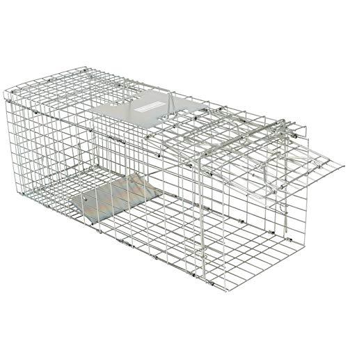 Gardigo Marderfalle Lebendfalle I Falle für Marder, Hasen, Katzen, Füchse I Schnell, einfach zusammengebaut I Größe 66 x 23 x 26 cm