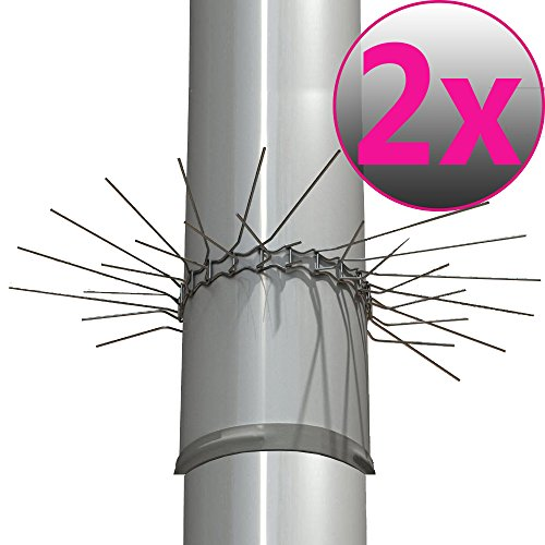 2er Set Marderabwehrgürtel für Fallrohre bis zu Ø 100mm Marderschutz Marderstopp individuell anpassbar durch Stecksystem der Gürtelglieder