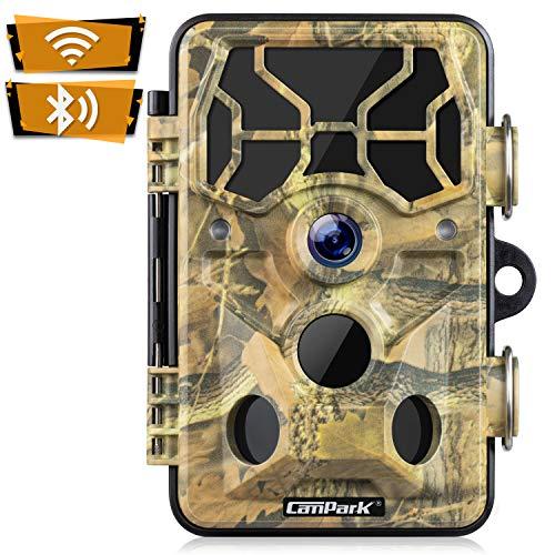 Campark WiFi Wildkamera 20MP 1296P Upgrade Bluetooth, WLAN mit Bewegungsmelder Nachtsicht Wildlife Jagdkamera, Wildtierkamera mit Nachtsichtbewegung Wasserdicht IP66 …