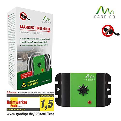 Gardigo Marder-Frei Mobil Ultraschall I Marderschutz I Marderschreck I Marderabwehr I Mittel gegen Marder I berall einsetzbar I Deutscher Hersteller