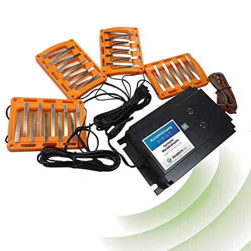 ISOTRONIC 3in1 Marderabwehr BLITZ Marder-Frei für Auto KFZ Anschluss Autobatterie 12V Marderschock Marderscheuche Marderfrei Marderschutz mit Hochspannung, LED-Blitzlichtfunktion Hochfrequenz Ultraschall, wasserdich