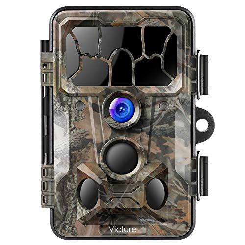 Victure Wildkamera mit Bewegungsmelder Nachtsicht 20MP 1080P 130° Weitwinkel Vision IP66 Wasserdicht mit 2,4'LCD Display für Jagd und Sicherheit zu Haus