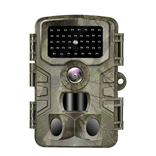 VANBAR Wildkamera 20MP 1080P Full HD Wildkamera mit Bewegungsmelder Nachtsicht IP66 Wasserdichter und 0,2s Schnelle Trigger Geschwindigkeit Nachtsicht Wildkamera für die Überwachung von Wildtier