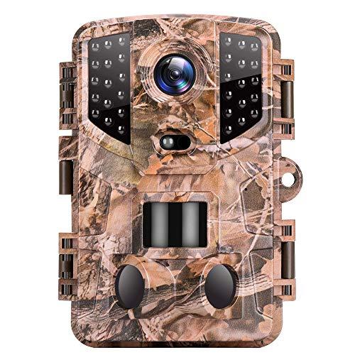 VanTop Ninja 1 Wildkamera 20MP 1080P Full HD Wildkamera mit Bewegungsmelder Nachtsicht, wasserdichte Wildtierkamera mit 3 Infrarotsensor 120 ° Erfassungsbereich für die Überwachung von Wildtier