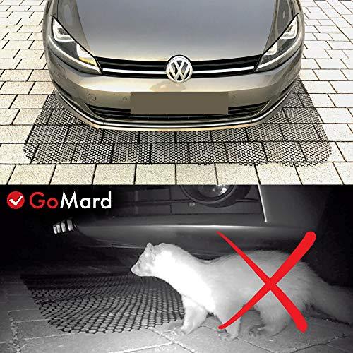 GoMard Auto MARDERSCHUTZ | Mobile Marderschreck-Matte in 200 x 150 cm | fr ALLE KFZ geeignet GETESTETE Marderabwehr