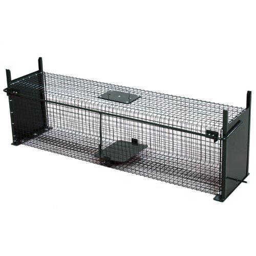 Moorland Safe 5007 extra große Lebendfalle 100x25x25 cm als Marder-Falle, Katzen-Falle, Fuchs-Falle mit 2 Eingäng