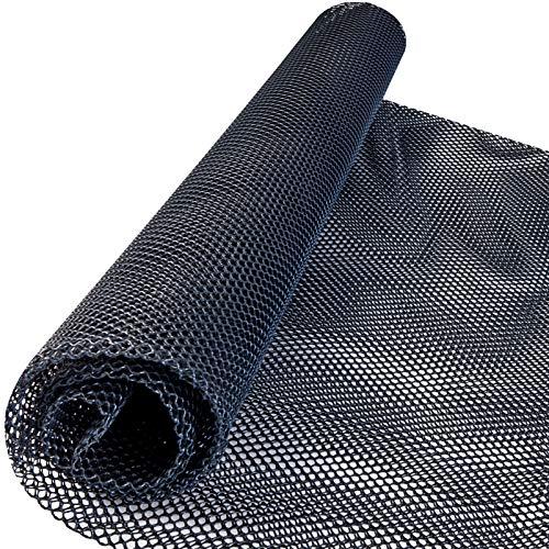 Windhager Marder-Abwehr Bodenmatte aus HDPE, Marderschreck, Madergitter, Maderschutzgitter, Mardermatte für Auto, 1,5 x 1,9m, 10mm Maschenweite, 300g/m², 05373, schwarz